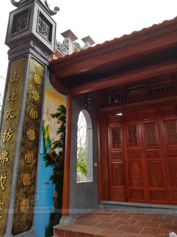 Quy trình sơn giả gỗ trong các công trình nhà thờ họ truyền thống