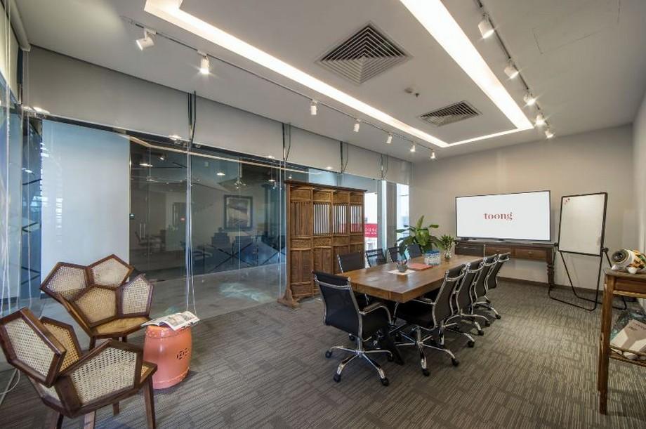 Không gian phòng họp hiện đại kết hợp truyền thống
