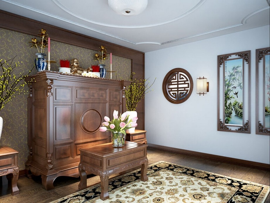 Trang trí phòng thờ cho chung cư hiện đại màu gì?