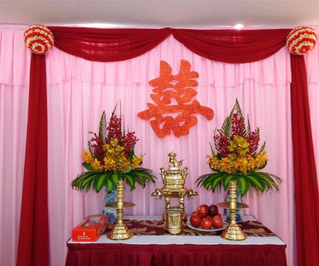 Tự trang trí bàn thờ lễ đính hôn