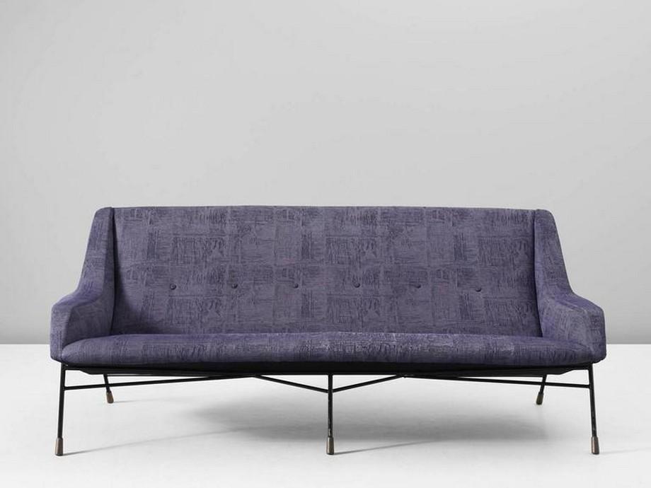 Vải sofa màu tím thơ mộng, hiện đại và tinh tế
