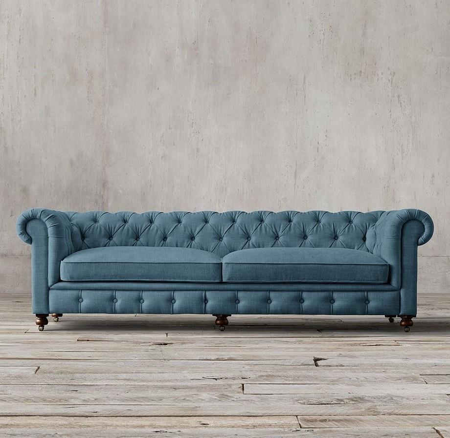 Vải sofa gam màu xanh lạnh nhập khẩu từ Bỉ, hiện đại trẻ trung