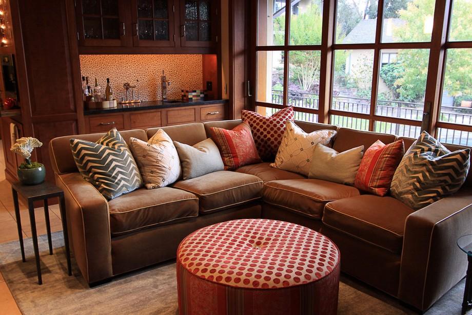 Vải sofa tông màu nâu trầm ấm nhập khẩu từ Bỉ mang đến cảm giác ấm áp