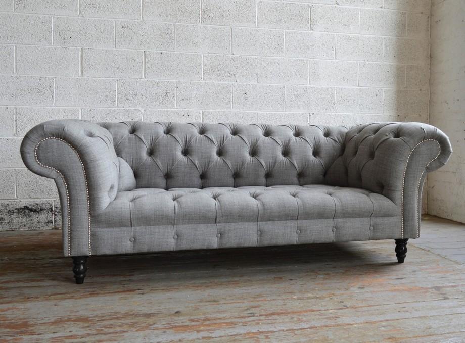 Vải sofa nhập khẩu từ Bỉ tông màu trắng xám hiện đại