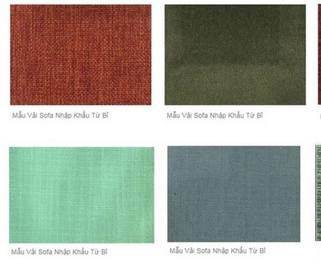 Những mẫuvải sofa được nhập khẩu từ Bỉ chính hãng