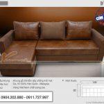 35 Mẫu sofa góc màu nâu thiết kế đẹp cho phòng khách sang trọng