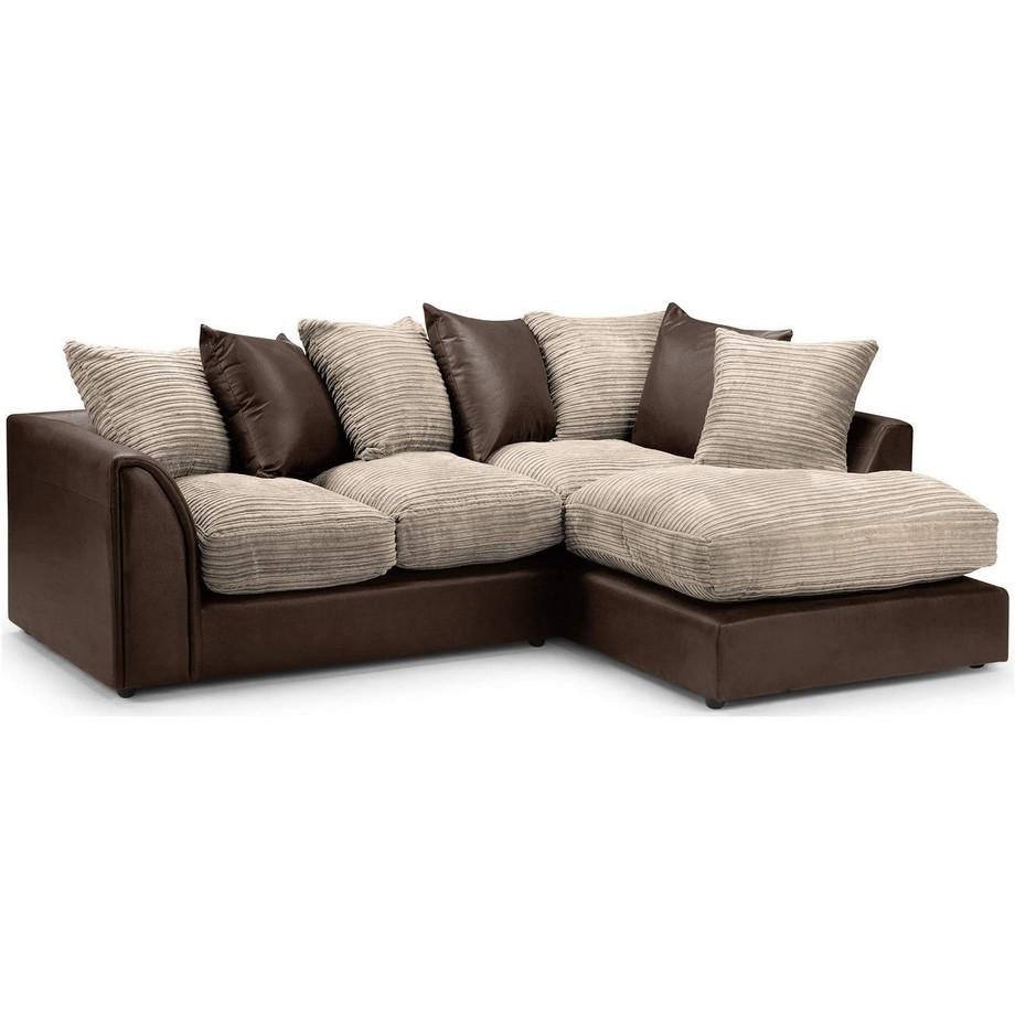 Sofa góc màu nâu đẹp