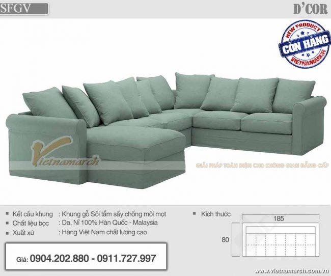 mẫu Sofa góc vuông