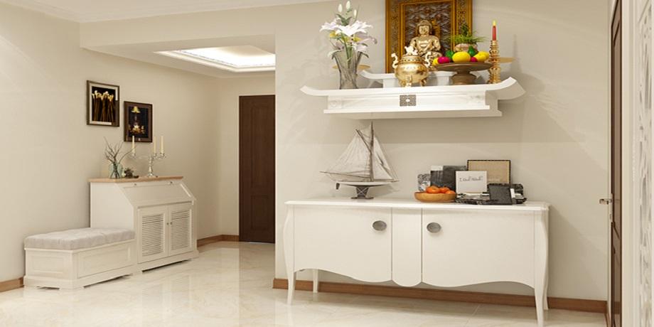 Bàn thờ màu trắng cũng như các loại bàn thờ khác cần được bài trí ở vị trí trang trọng và hợp phong thủy