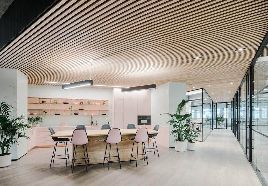 Thiết kế quầy caffe trong không gian làm việc chung