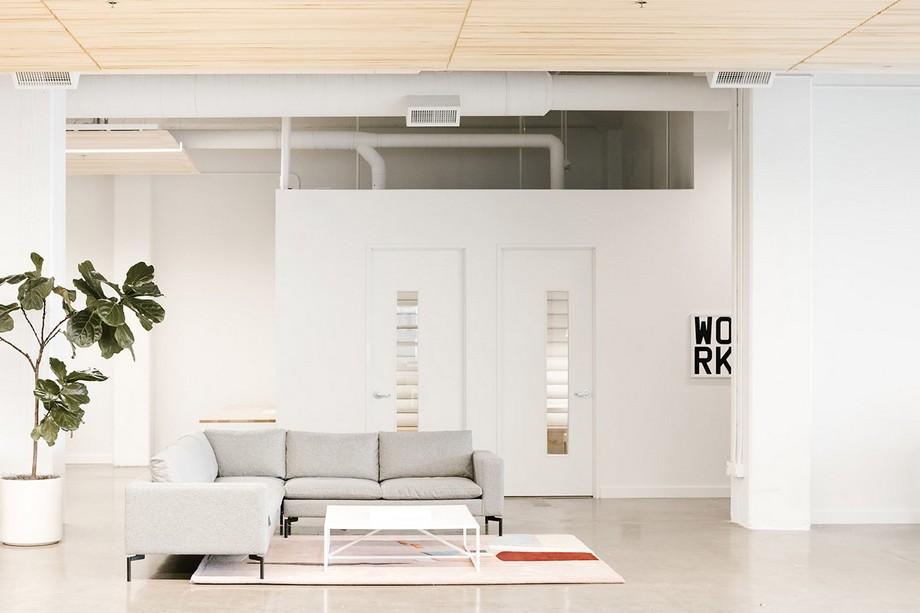 Thiết kế khu vực tiếp khách trong không gian làm việc chung