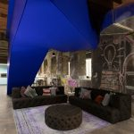 Bản vẽ thiết kế không gian làm việc chung coworking space đa sắc màu tái chế từ một nhà máy công nghiệp lâu đời