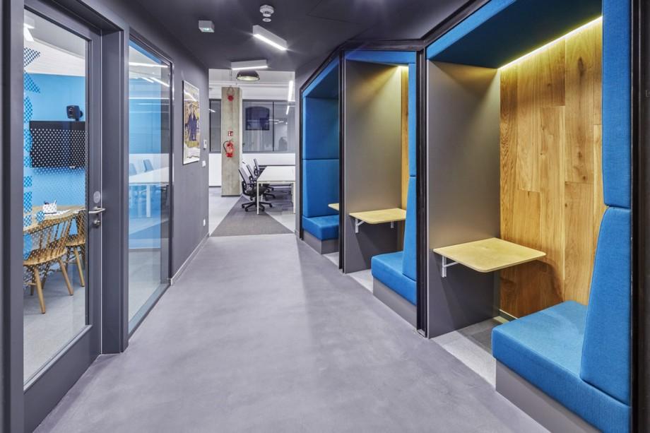 Thiết kế góc làm việc riêng trong không gian làm việc chung