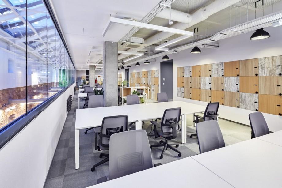 Thiết kế góc làm việc chung trong không gian làm việc chung