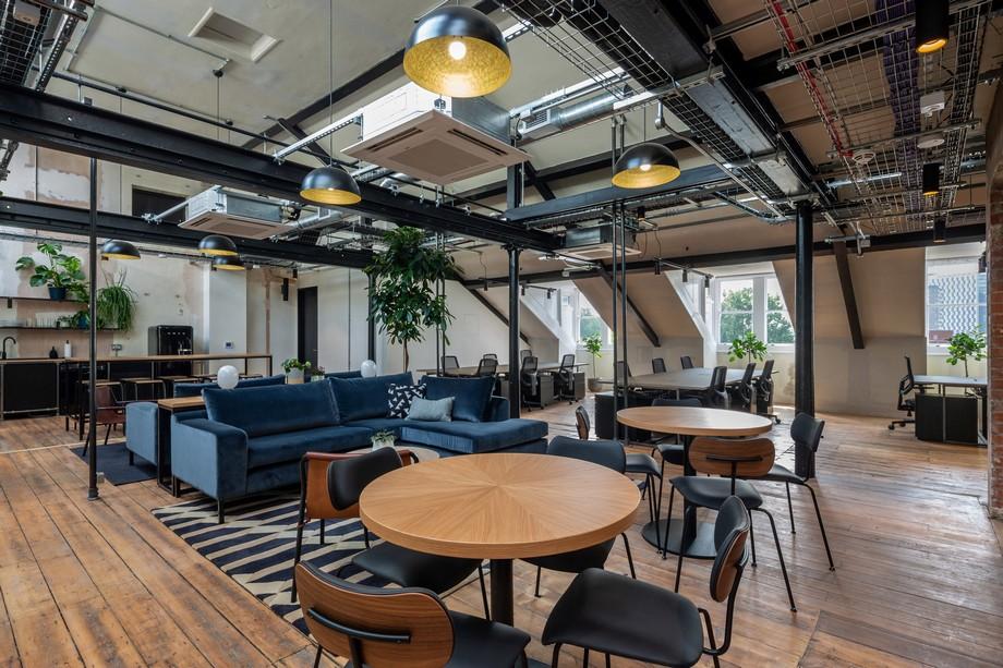 Thiết kế bàn ghế không gian làm viêc chung