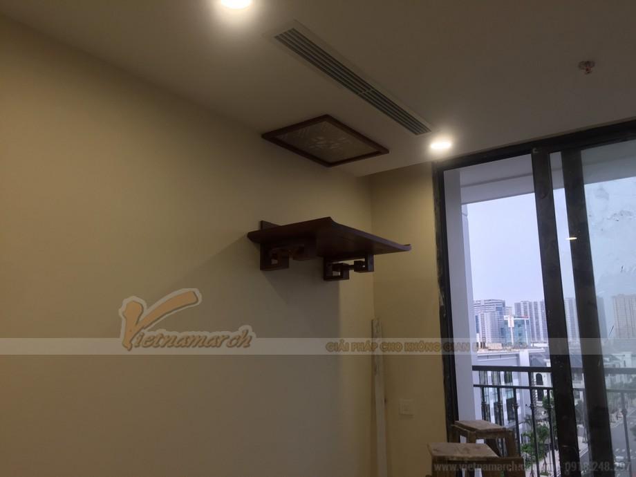 Thi công lắp đặt bàn thờ treo tường cho căn hộ chung cư Greenbay- Mễ Trì-Nam Từ Liêm-Hà Nội