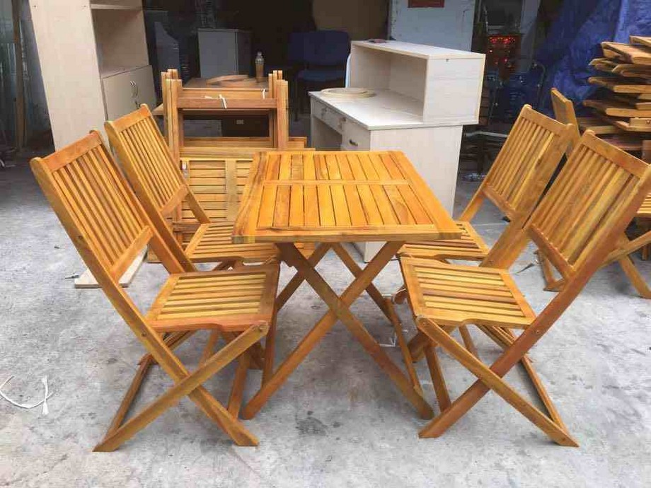 Mẫu bàn ghế gỗ quán ăn vặt