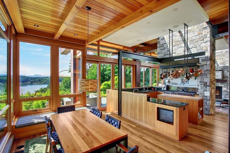 nội thất bàn ghế ăn làm bằng gỗ