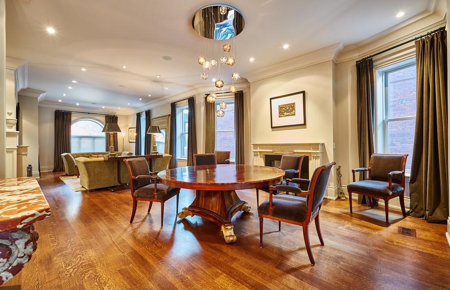 thiết kế nội thất phòng bếp với tông màu nâu ấm.