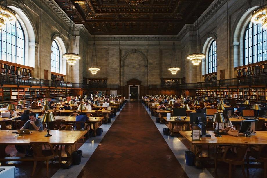 Ở Thư viện, các freelancer có thể truy cập wifi miễn phí, ghế ngồi thoải mái và thường không gian trải dài