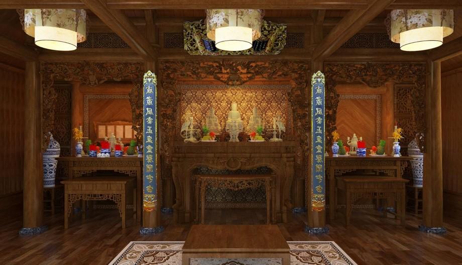Nội thất phòng thờ cổ