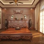 Cách bố trí nội thất phòng thờ cổ trang nghiêm cho không gian nhà bạn