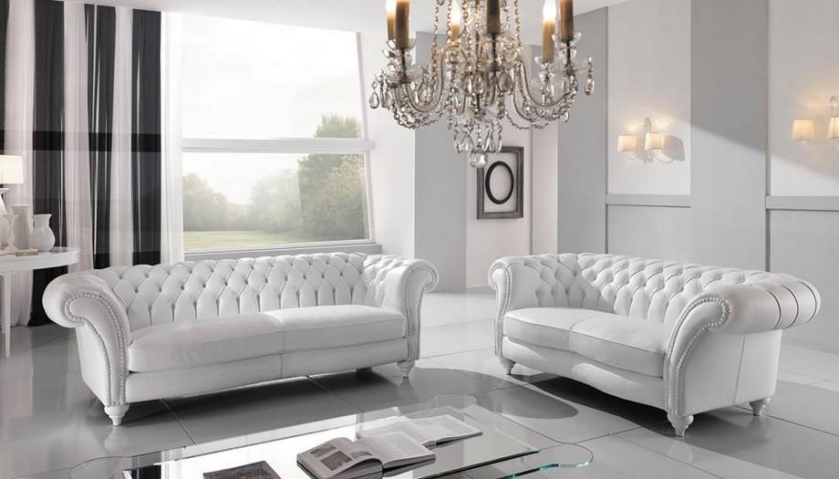 Sofa tân cổ nhập khẩu Đài Loan tông màu trắng nổi bật