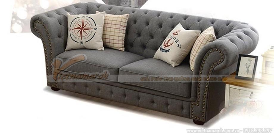Sofa vải nỉ tân cổ điển nhập khẩu Malaysia