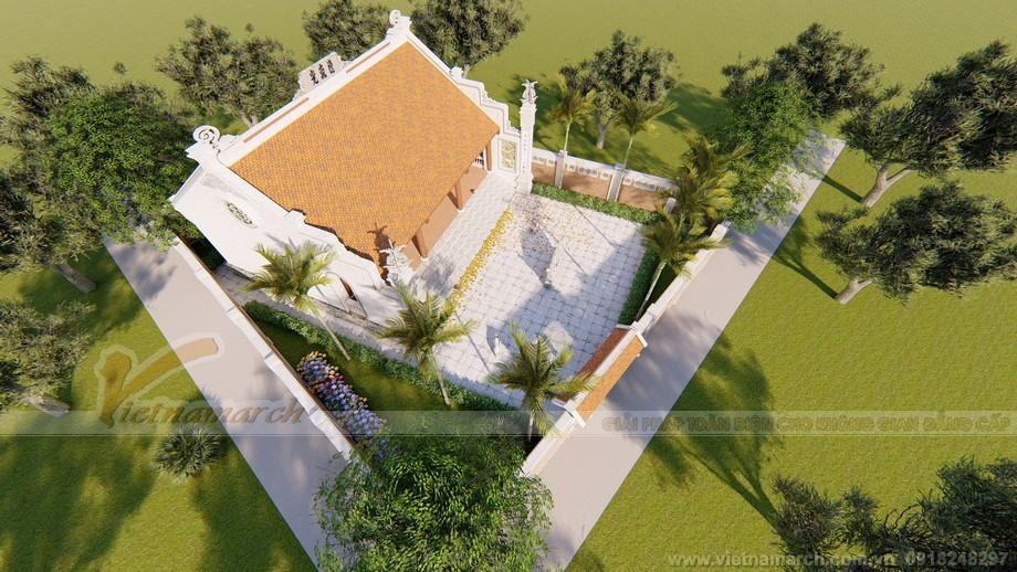 Thiết kế nhà thờ họ 3 gian 2 mái nhà anh Công với bản vẽ 3 D đầy đủ