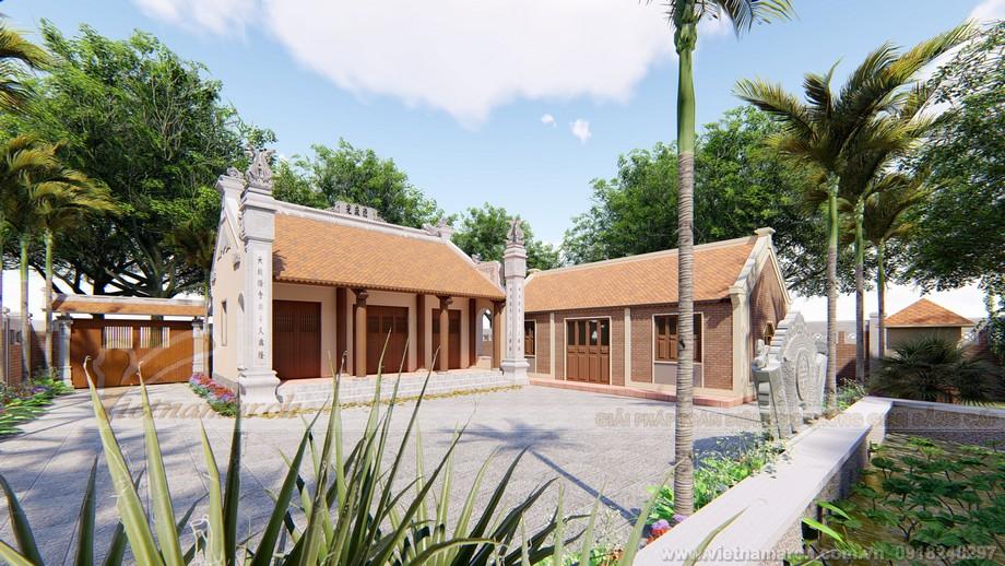 Công trình nhà thờ họ 3 gian 2 mái kèm nhà ngang
