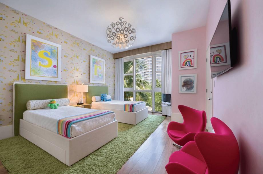 Mẫu thiết kế nội thất phòng ngủ trẻ em hiện đại đẹp ở biệt thự Vinhomes Ocean Park Gia Lâm