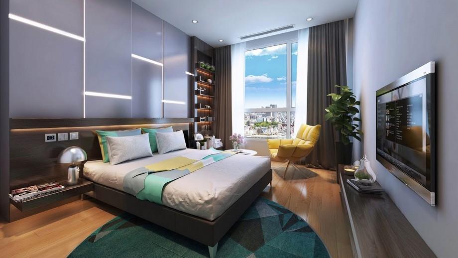 Mẫu thiết kế nội thất phòng ngủ master hiện đại ở biệt thự Vinhomes Ocean Park Gia Lâ