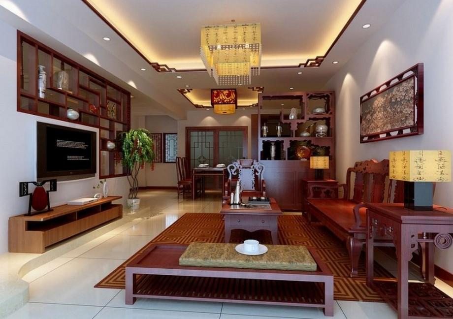 Mẫu thiết kế nội thất phòng khách phong cách Á Đông đẹp ở biệt thự Vinhomes Ocean Park Gia Lâm