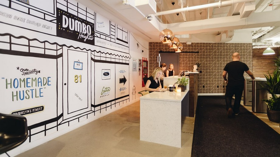 Lễ tân Coworking Space Brooklyn Dumbo Heights