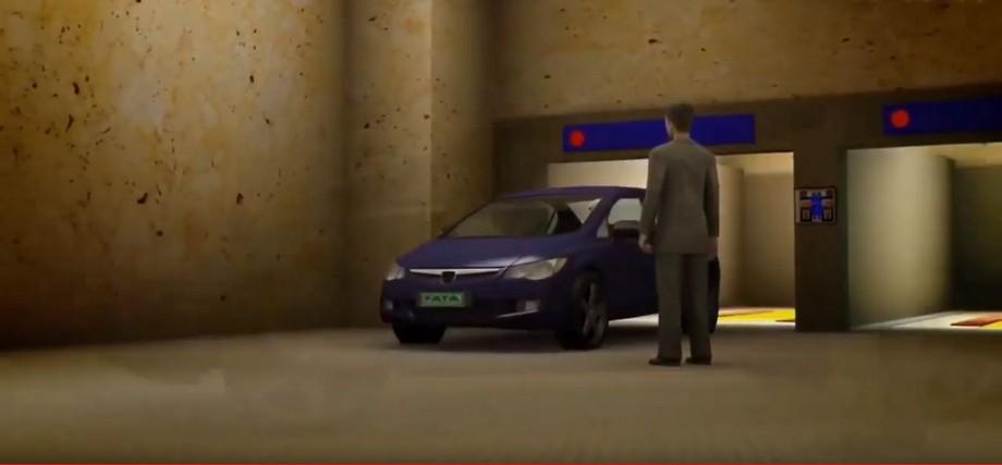 Và tự động đi ra chỗ người lái xe đứng chờ sẵn bên ngoài
