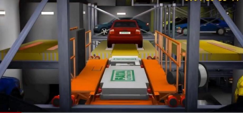Hệ thống nâng đưa xe lên trên bãi đỗ xe