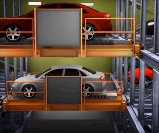 Bãi đỗ xe thông minh được bố trí tại 03 tầng nổi dự án Premier Sky Residences