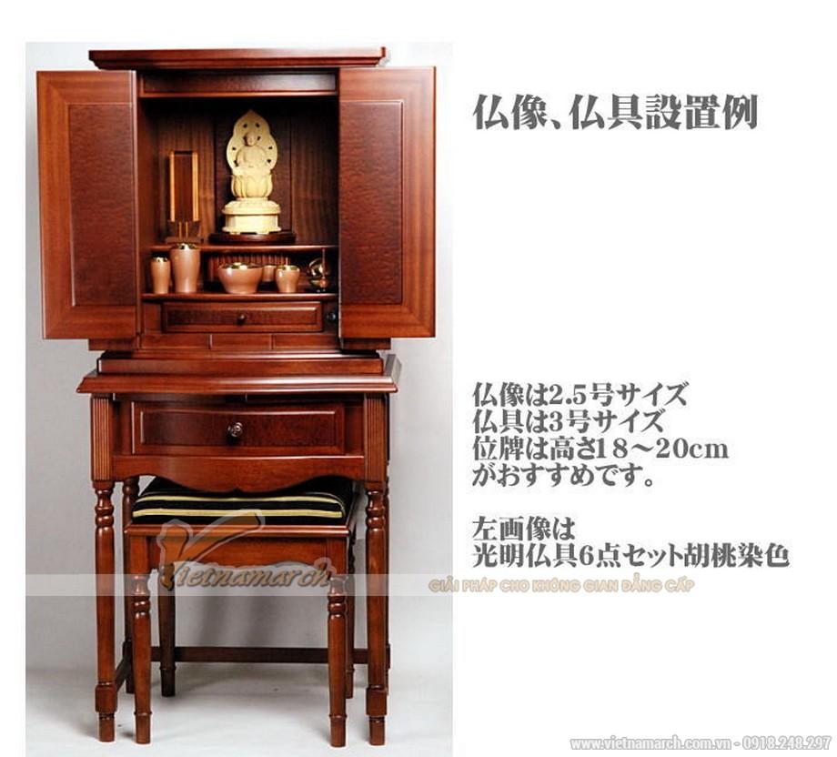 Mẫu bàn thờ kiểu Nhật đẹp