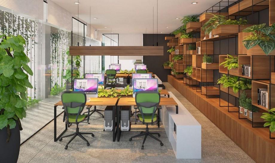 Phong cách thiết kế nội thất văn phòng Eco
