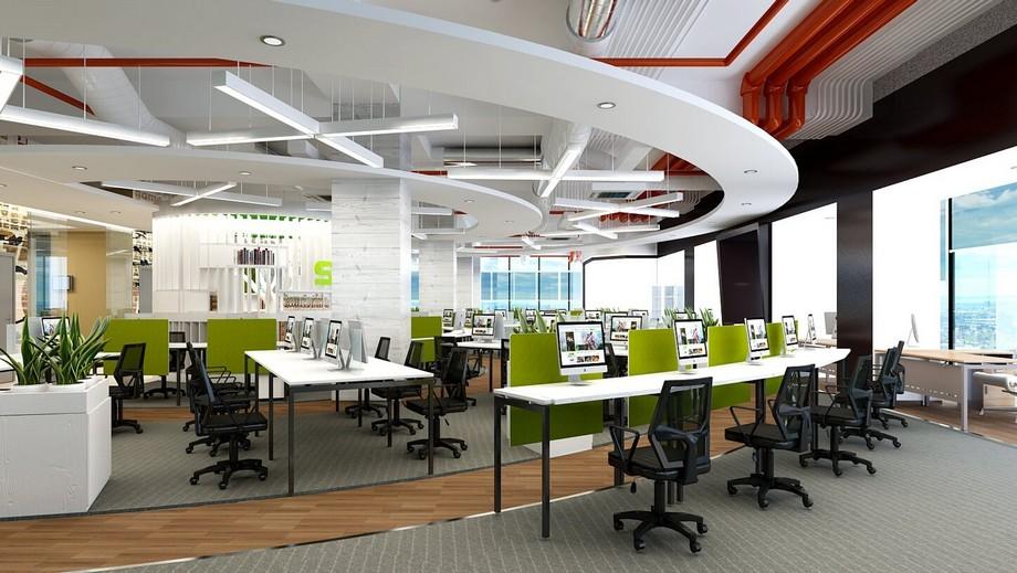 Phong cách mở trong thiết kế nội thất văn phòng