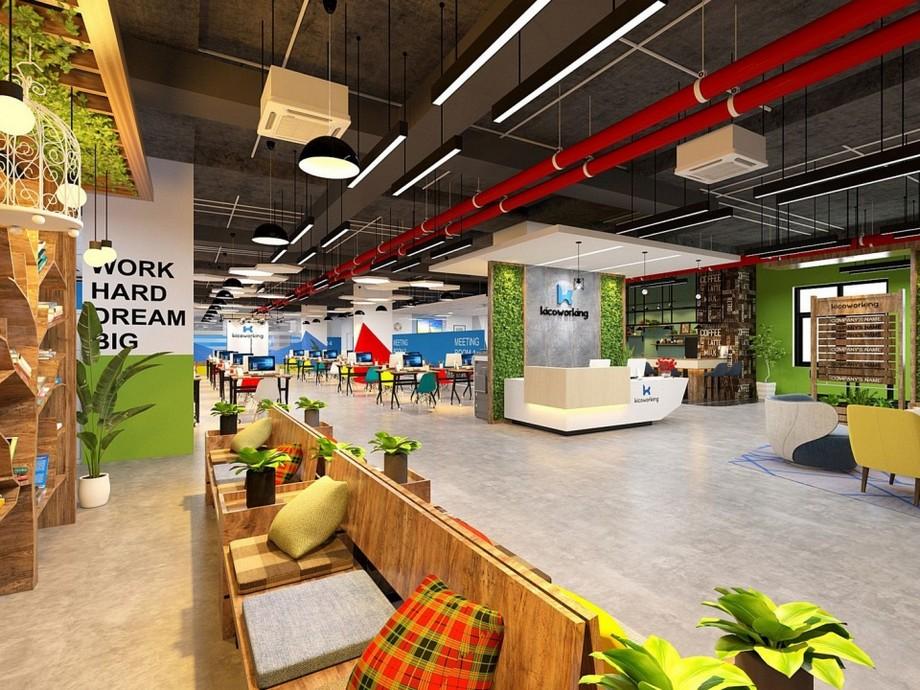 Phong cách thiết kế nội thất văn phòng theo lối coworking space