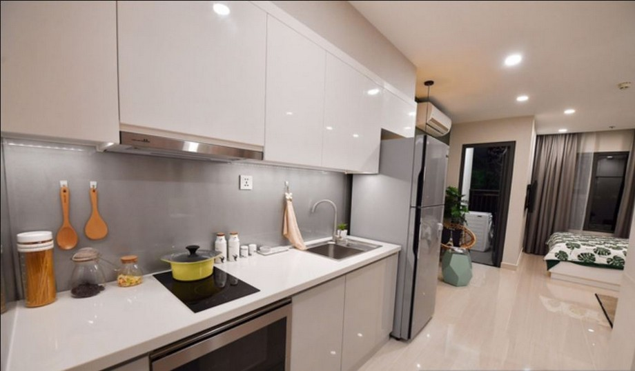Khu vực bếp căn hộ mẫu Vincity Gia Lâm