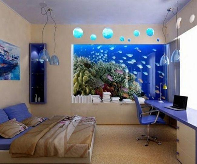 Có nên để hồ cá trong phòng ngủ