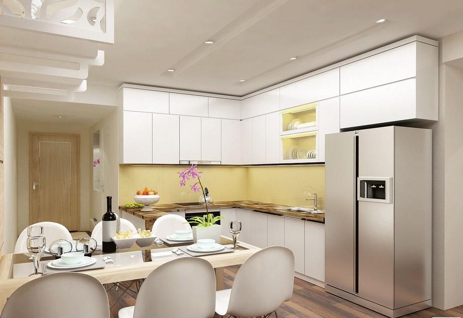 Phòng bếp + ăn căn hộ chung cư 3 phòng ngủ