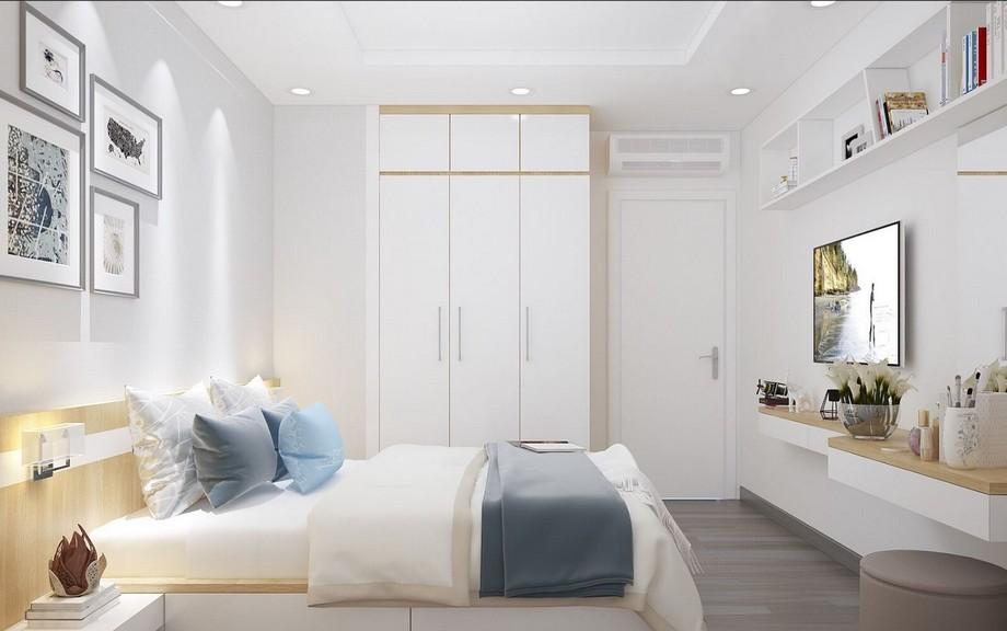 Phòng ngủ vợ chồng căn hộ chung cư 3 phòng ngủ