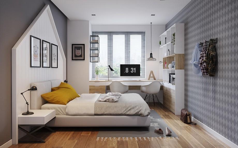 Phòng ngủ nhỏ căn hộ chung cư