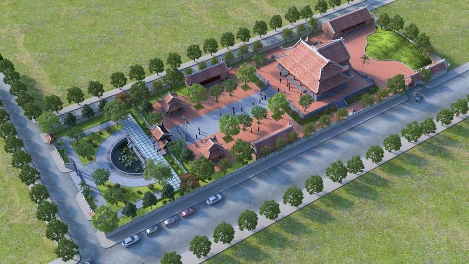 Toàn cảnh công trình nhà thờ họ Trương ở Ninh Bình