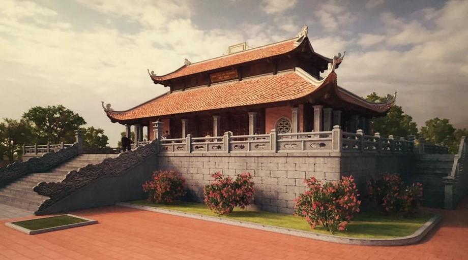 Nhà thờ họ Trương ở Ninh Bình 5 gian 8 mái
