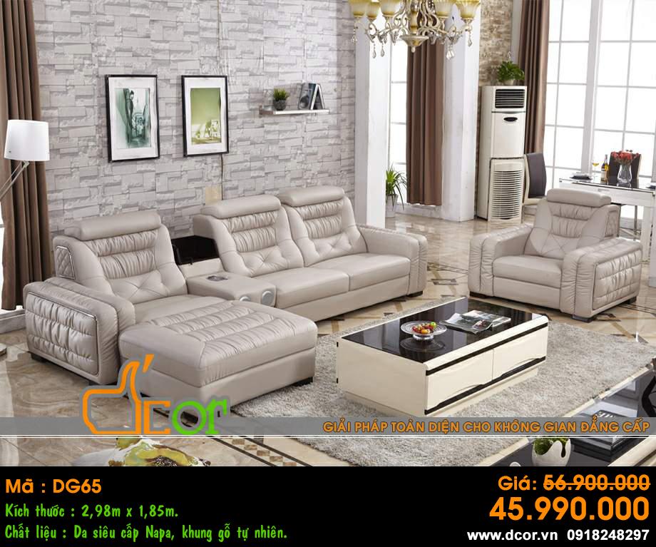 Sofa hiện đại màu sáng phòng khách