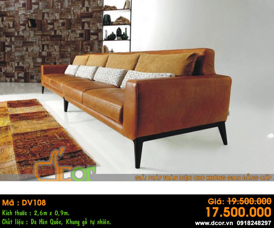 Sofa phòng khách cho biệt thự Vinhomes Ocean Park kiểu dáng văng chất liệu da hiện đại